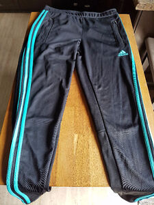 Adidas climacool striped track pants size small