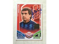 BERY RARE AUTHENTIC SIGHNED PETER SHILTON MATCH ATTAX TRADING CARD