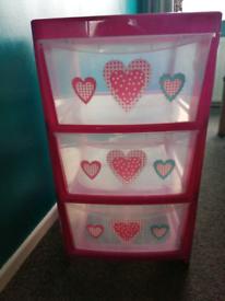 Children's storage drawers