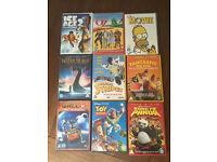 x9 children's DVDs