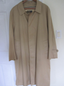 Mens Trench Coat size L