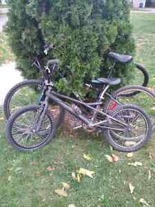 2 mountain bikes for sale an a free style bmx