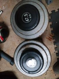 47.5 kg dumbell set, total weight 95kg