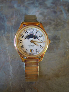 BEAUTIFUL LADIES WALTHAM MOON PHASE WATCH