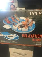 Inflatable party island never used
