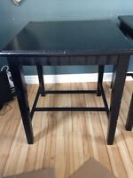 2 black end tables for sale