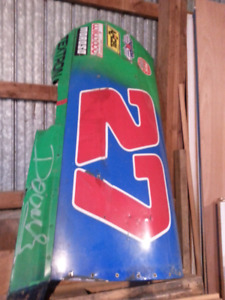 Brighton Speedway race car door #27 signed by driver