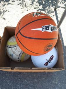 Ballon basketball 6$,Ballon de volleyball vendu,Ballon soccer 4$