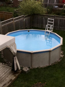 """Selling 20"""" above ground pool"""