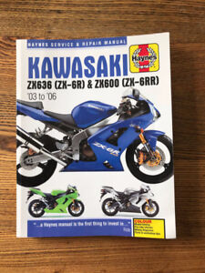 Haynes Service Manual Kawasaki ZX636 and ZX600 2003-2006