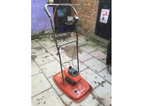 2x Flymo L400 petrol hover lawnmowers