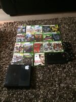 Xbox 360, 2 controllers, 16 games, gaming tablet w 2 games