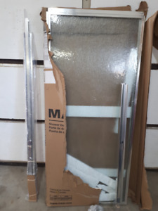 MAAX Soul 2-Panel Chrome Framed Shower Door 59 1/2 Inches