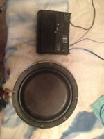 Amp & sub for sale