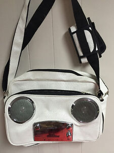 Boombox Bag with Speakers that Plays Music