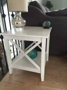 White x side table