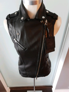 BRAND NEW WITH TAGS MACKAGE LEATHER VEST SMALL ONLY $300!!!