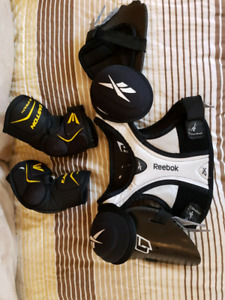 Youth lacrosse body guard and elbow pads