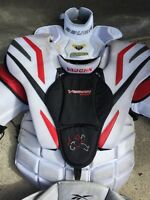 Vaughn Vision 9400 Reebok 9k goalie pants Bauer throat protector