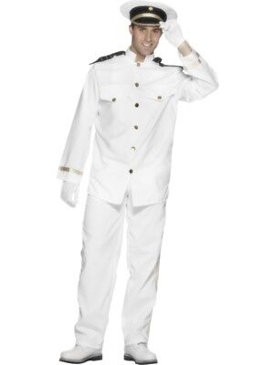 Smi - Karneval Herren Kostüm Schiff Navy Kapitän Marine Uniform weiß