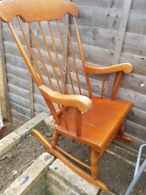 Vintage rocking fireside chair