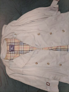 Brown Burberry Trench Coat  - Size (L)
