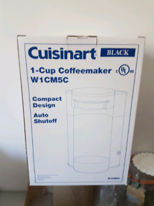 A case of New  Single cup Cuisinart coffee maker