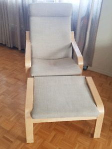 Ikea Poang Armchair and Foot Stool for sale