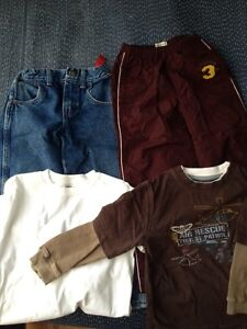 Set of 4-pants/shirts-for 5years old boy