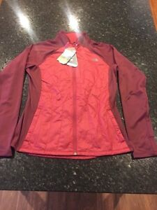 WOMEN'S NORTH FACE GARNET/RED PRIMALOFT JACKET WITH TAGS