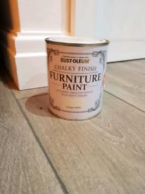 3 x Rust-Oleum Antique white Chalky effect Matt Furniture paint