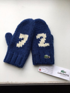 Lacoste children's mittens brand new with the tags authentic