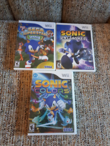 3- Sonic The Hedgehog games
