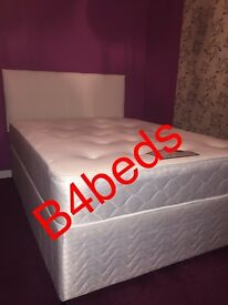 SMALL DOUBLE OR 3 QUARTER DIVAN WITH ORTHOPAEDIC/MEMORY FOAM MATTRESS