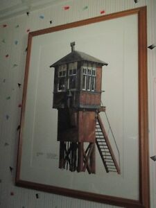 PAINTING OF CPR CROSSING TOWER- ONE OF A KIND London Ontario image 2