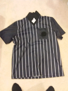 Soccer referee jerseys and flags