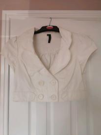 White mini jacket