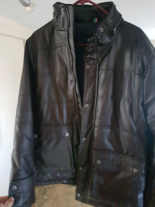 Brand new mens brown leather jacket