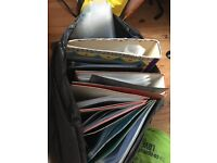 Job lot of folders and poly pockets