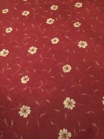 Red Flowered Carpet 4m x 4.5 metre
