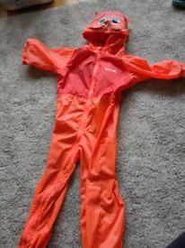 FREE waterproof splashsuit 2-3years REGATTA