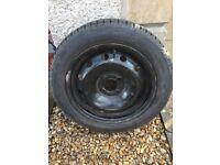 Clio spare steel wheel