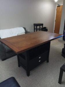 Solid Wood Table (Counter Height)
