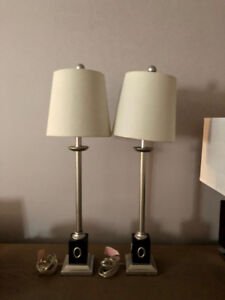 2 Table or Night Stand Lamps Perfect Condition