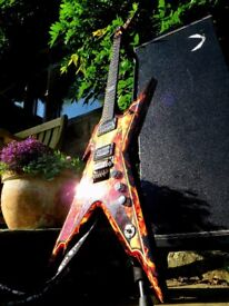 Dean Dimebag Razorback Explosion Electric Guitar with Floyd Rose and Hard Case