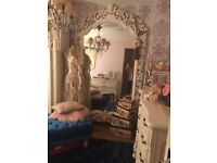 French Louis & Rococo style wardrobes mirrors bedroom dressing tables
