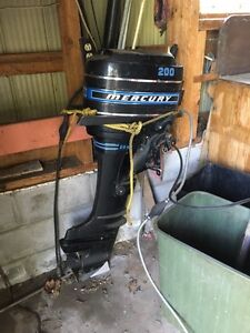 20HP Mercury Outboard  & 9.9HP Evinrude Outboard Motor