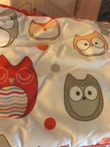 Baby crib set- owls - brand new!