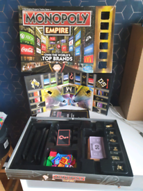 Monopoly Empire board game some bits missing