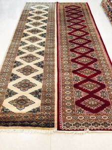 SAKAMA CARPET 50%Off WOOL SILK DESIGN HAND-KNOTTED- RUNNER SIZE